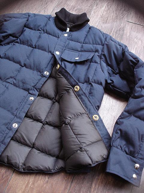 NEW : Crescent Down Works [Rib Collar Down Shirt] & [Rib Collar Quilting Down Shirt] 60/40 !!_a0132147_22251463.jpg