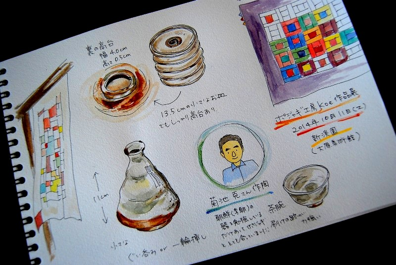 倉敷ポジャギ作品展&菊池克作陶_b0165872_20331260.jpg