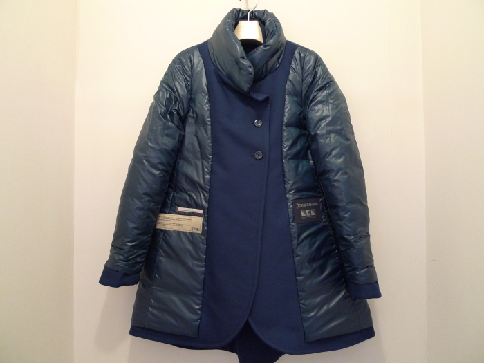 HERNO 4BUTTON A LINE DOWN COAT NAVY_f0111683_12450465.jpg