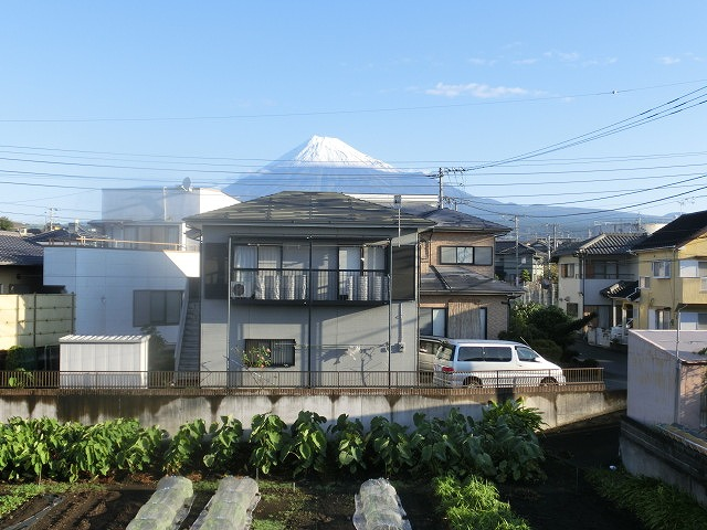 今朝はっきり確認 私にとって今年の富士山の初雪_f0141310_726756.jpg