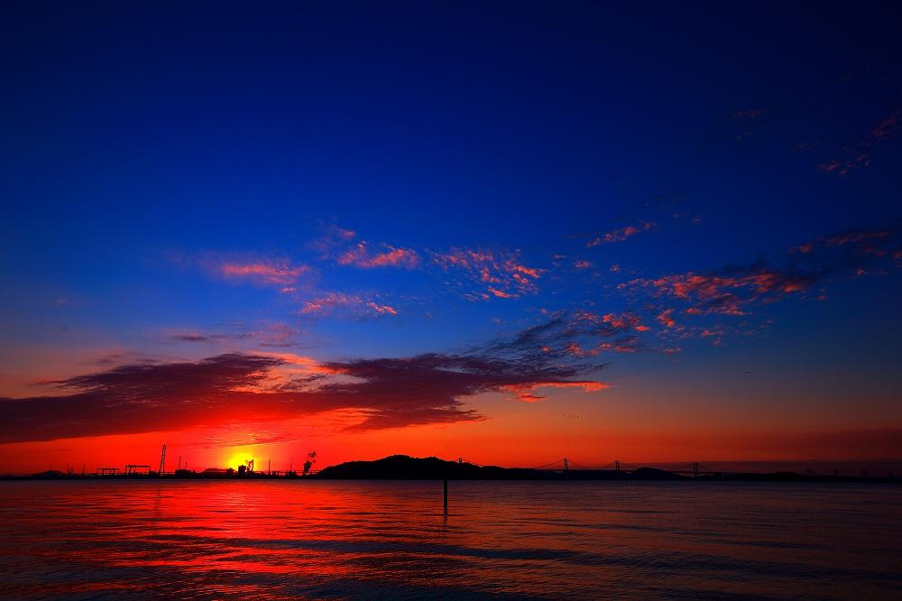 @松山漁港からの夕景_b0297818_823285.jpg