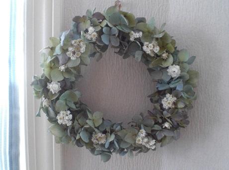 フレッシュなブルーグリーン紫陽花を使って_c0207719_127717.jpg