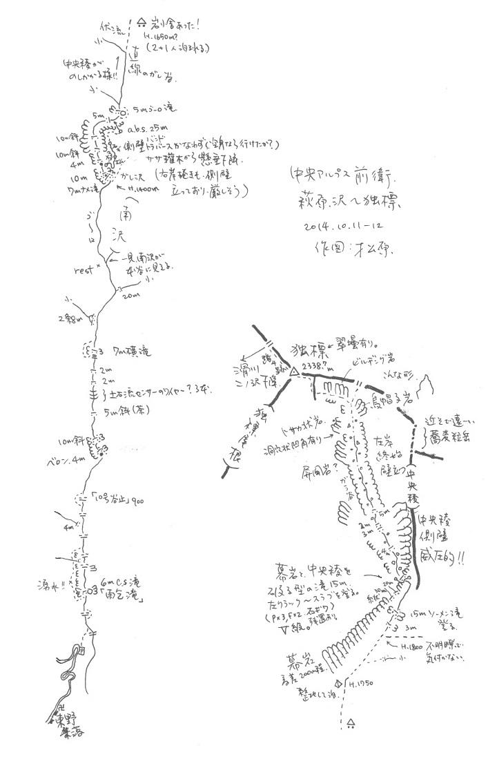 中央アルプス萩原沢から独標(萩原沢岳)_e0064783_09290862.jpg