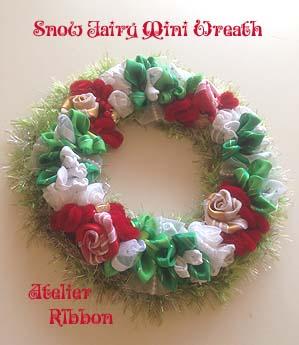 Snow Fairy Christmas Mini Wreath!_f0017548_18091244.jpg