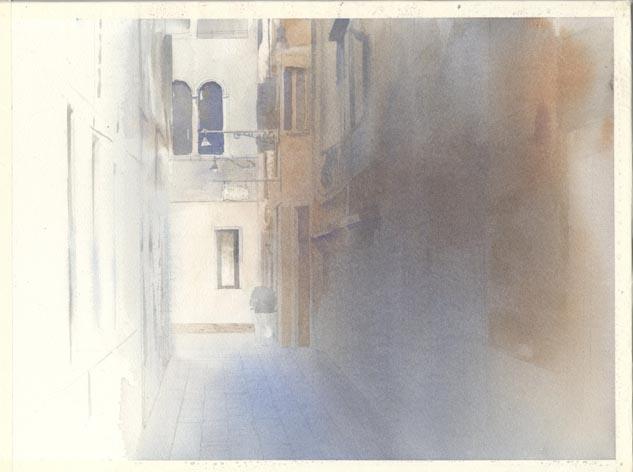 路地 水彩画_f0176370_16304697.jpg