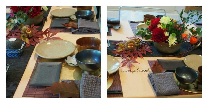 イギリスから「秋の和」テーブルコーディネートレッスン終了いたしました〜♪_b0313387_06030013.jpg