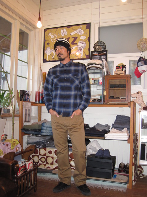 王道! CUT-RATE L/S HOMBRE CHECK SHIRT_c0140709_12282476.jpg