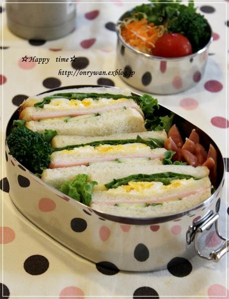サンドイッチ弁当と秋バラ☆アイスバーグ♪_f0348032_17452911.jpg