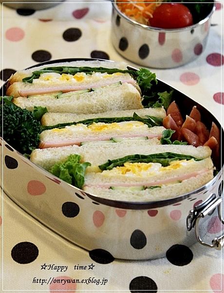 サンドイッチ弁当と秋バラ☆アイスバーグ♪_f0348032_17454114.jpg