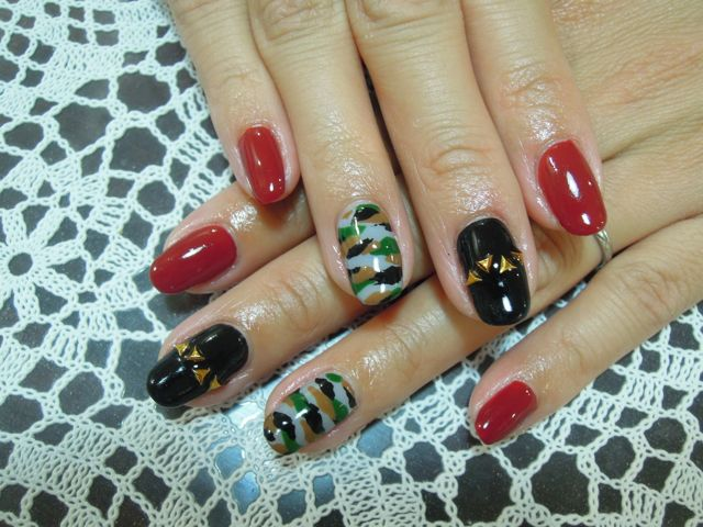 Camouflage Nail_a0239065_15371752.jpg