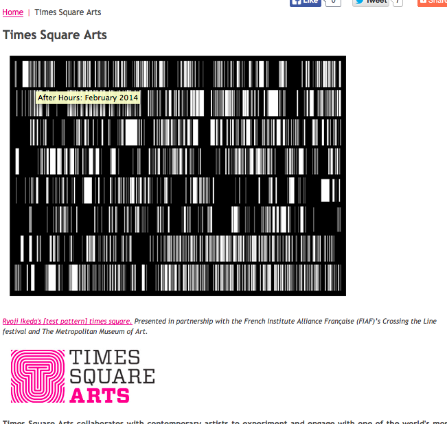 タイムズスクエアで池田亮司 Ryoji Ikeda #art #artweet #art_jp #contemporaryart #museum_b0074921_1135238.png