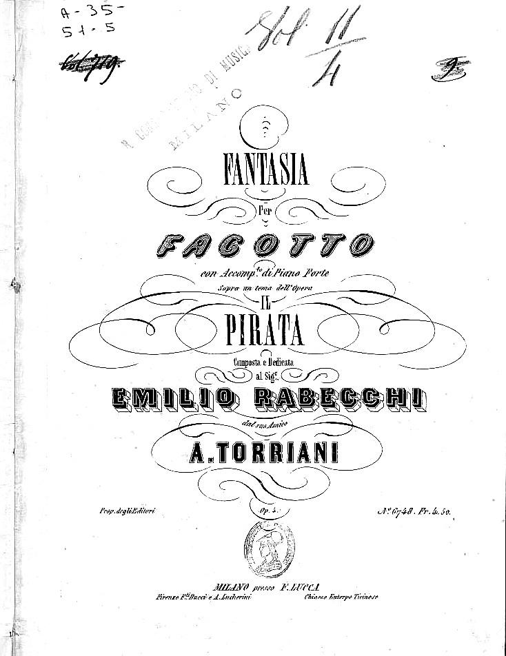 トッリアーニ:ベッリーニの歌劇「海賊(イル・ピラータ)」の幻想曲_b0189423_1723513.jpg