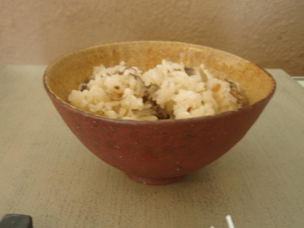 井内素さんの飯碗と焼酎カップ_b0132442_15415081.jpg