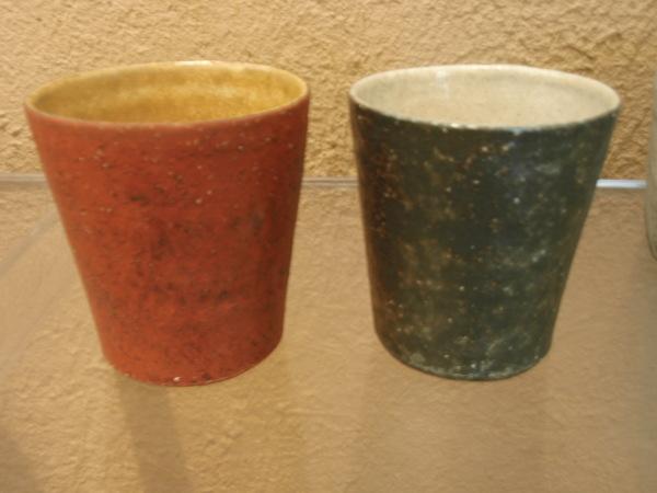 井内素さんの飯碗と焼酎カップ_b0132442_15522635.jpg