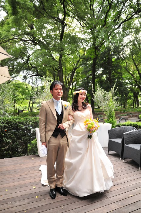 お花直し  日比谷パレス様へ  一年後に、お嬢様への花冠に_a0042928_21221699.jpg