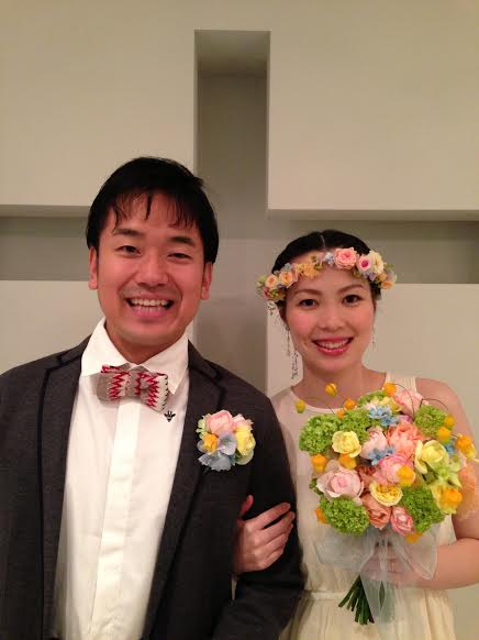 お花直し  日比谷パレス様へ  一年後に、お嬢様への花冠に_a0042928_2127826.jpg