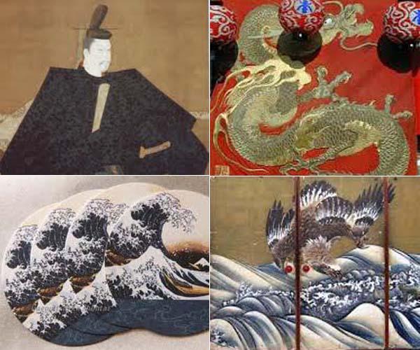 京楽焼鉢「一柳と楽徳」                 No.1442_d0103457_21125882.jpg