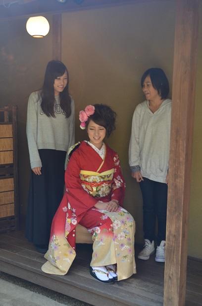 成人式前撮り 仲良し3姉妹(*^^)_d0230676_1426296.jpg