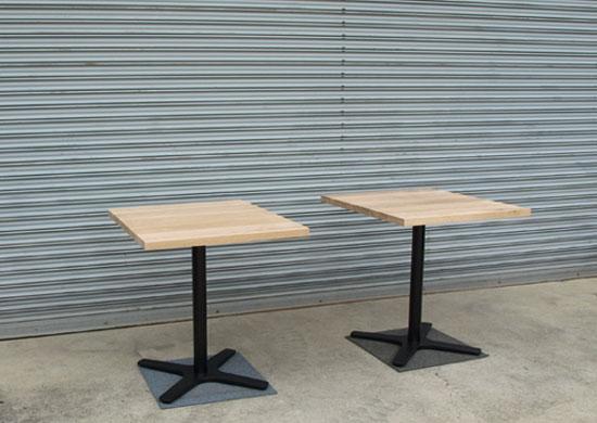 カフェテーブル、ホワイトオーク_e0115686_15112847.jpg