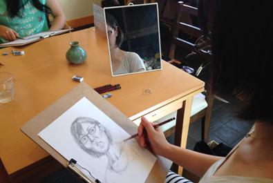 【活動レポート】2014年8月31日 デッサンミニレッスン_f0224207_12003432.jpg