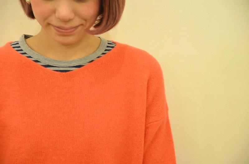寒くなってきましたね☆そんな日には。。。Nouveles du paradis(ヌーベルドゥパラディー)のセーターをご紹介です**_a0256162_14133987.jpg