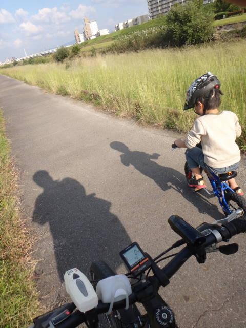 平成26年10月19日補助輪外れて、初めて親子でサイクリング_c0155364_2331620.jpg