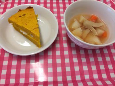 10月22日の給食。お誕生日献立でした(*^^*)_c0293682_176518.jpg