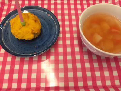 10月22日の給食。お誕生日献立でした(*^^*)_c0293682_176527.jpg