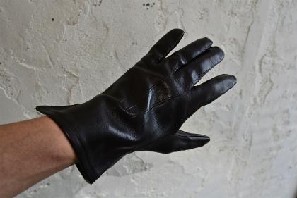 Italian army officer leather gloves dead stock_f0226051_11233077.jpg