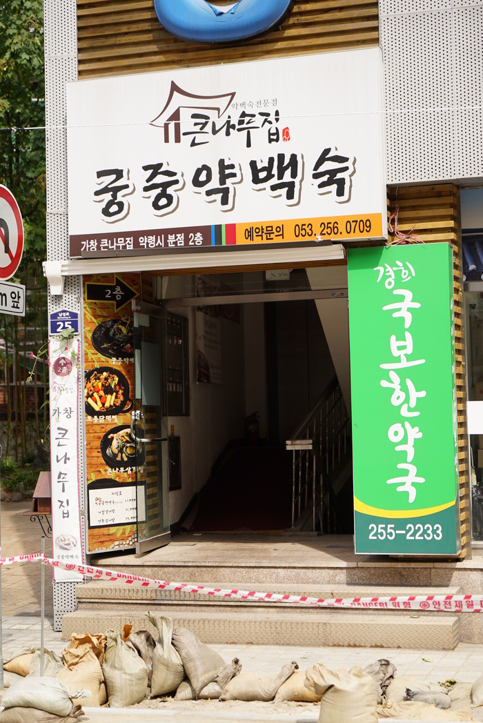 初心者的大邱(テグ)の旅 その7 薬令市でおいしい韓方鶏料理_a0223786_146773.jpg