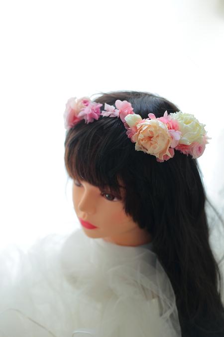 ハーフダウンへの花かんむり ルアンジェ教会さまへ_a0042928_22413544.jpg