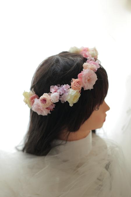 ハーフダウンへの花かんむり ルアンジェ教会さまへ_a0042928_22423688.jpg