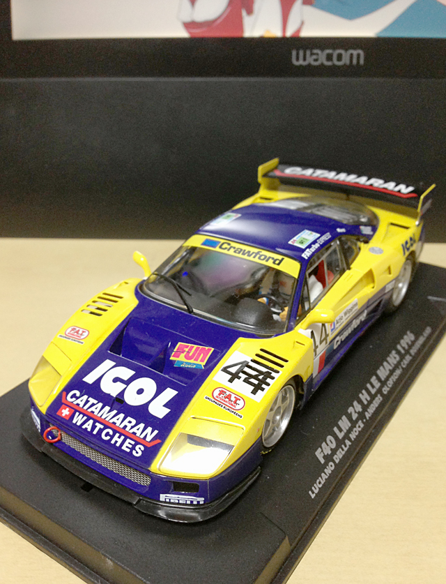 【趣味】Flyslot Ferrari F40 LM (Le Mans24H 1996)_a0293131_7434060.jpg
