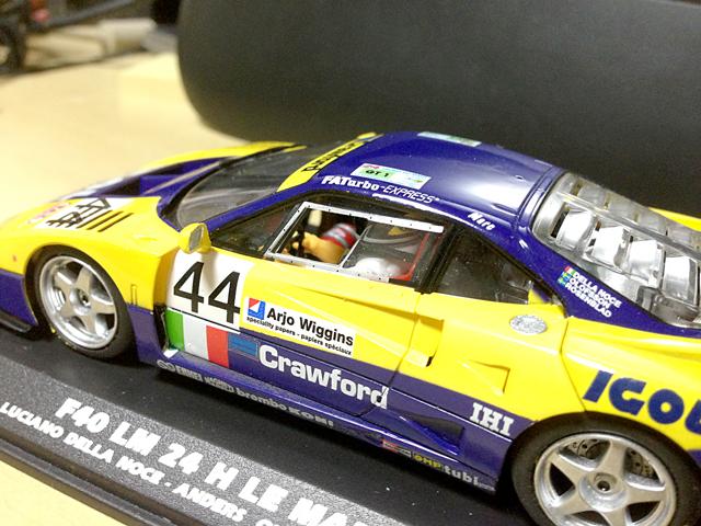 【趣味】Flyslot Ferrari F40 LM (Le Mans24H 1996)_a0293131_7554517.jpg
