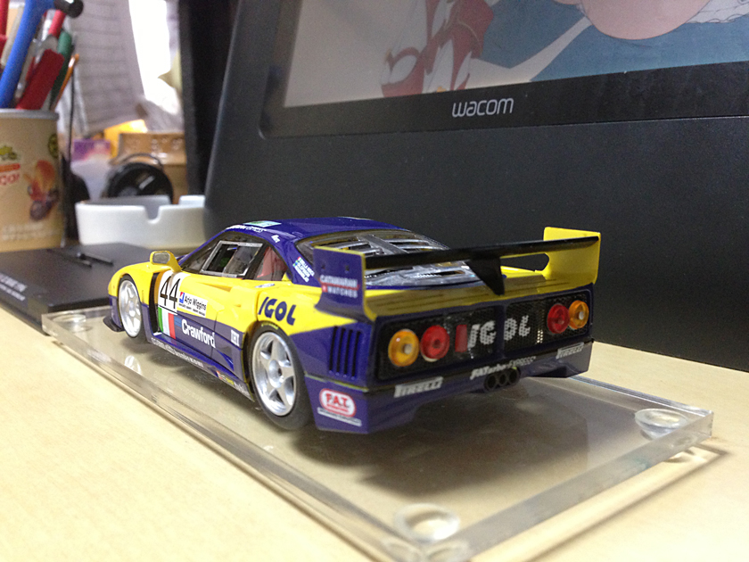 【趣味】Flyslot Ferrari F40 LM (Le Mans24H 1996)_a0293131_81235.jpg