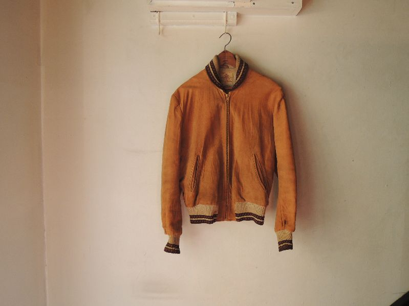 50S60S COLLEGETOWN NUBUCK LEATHER JACKET--RECOMMEND--_c0176867_2055549.jpg