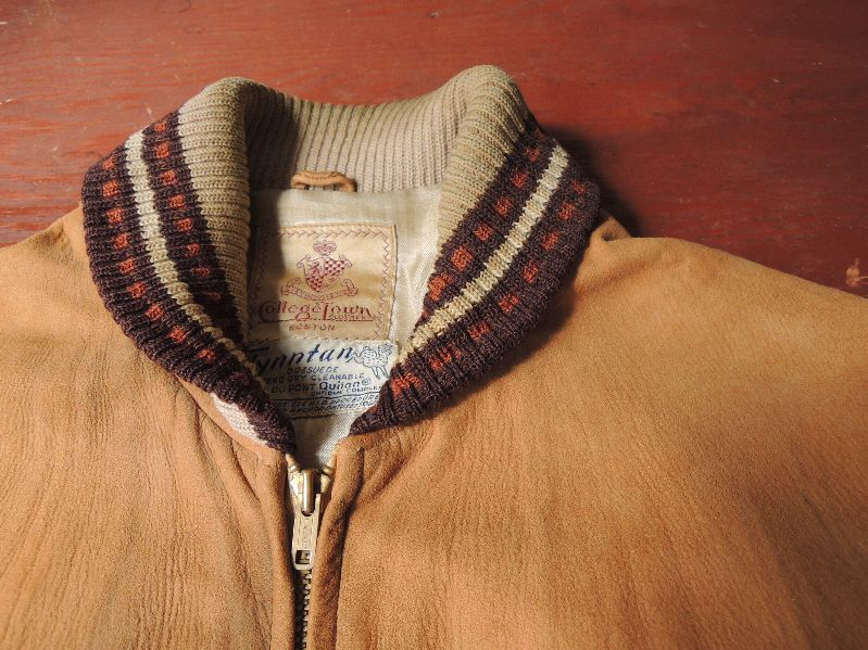 50S60S COLLEGETOWN NUBUCK LEATHER JACKET--RECOMMEND--_c0176867_2062624.jpg
