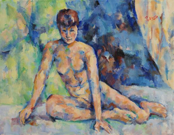 手をつく裸婦(完成)_c0236929_19591526.jpg
