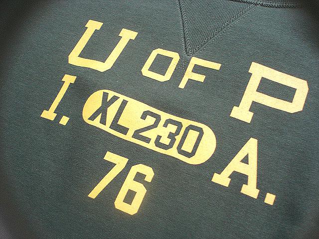 "NEW : JELADO \""ATHLETIC BRAND\"" [CREW NECK SWEAT SHIRT] \""U OF P\"" !!_a0132147_22123259.jpg"