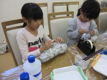 松井山手教室 ~張り子でくつ作り~_f0215199_1423271.jpg
