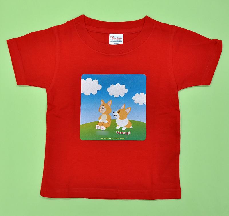 青空コーギー ベビー&キッズTシャツ_d0102523_18213120.jpg