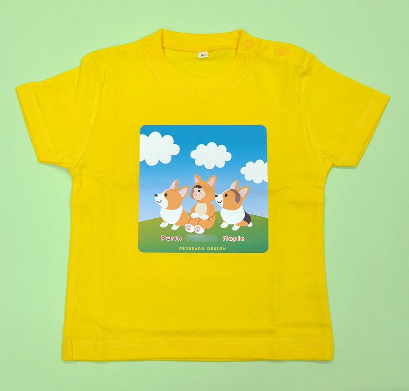 青空コーギー ベビー&キッズTシャツ_d0102523_1821791.jpg