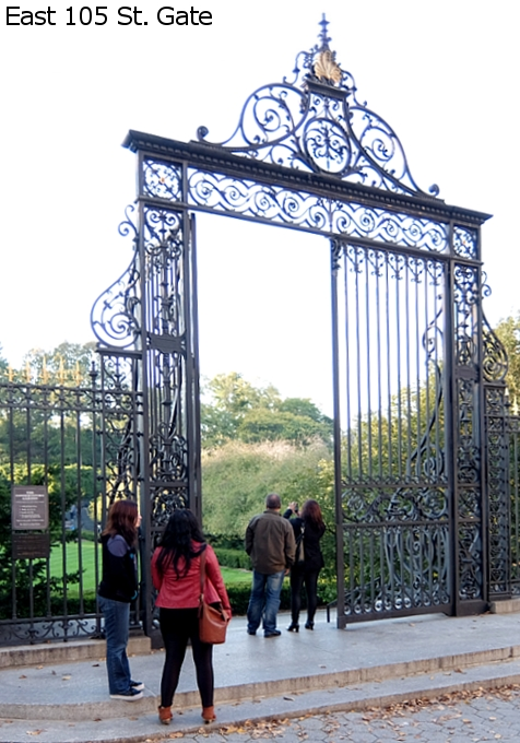 なぜか今、お花満開のセントラルパーク内にあるフランス式庭園(Conservatory Gardenの一部)_b0007805_3101071.jpg