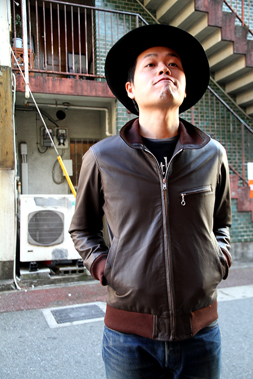 """RALEIGH Design x THE MACKSHOW"" LEATHER JACKET「The CAVERN」_e0325662_14581237.jpg"