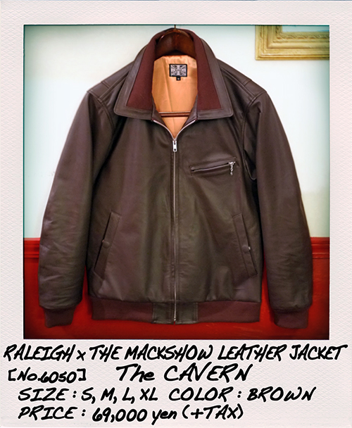 """RALEIGH Design x THE MACKSHOW"" LEATHER JACKET「The CAVERN」_e0325662_15044863.jpg"