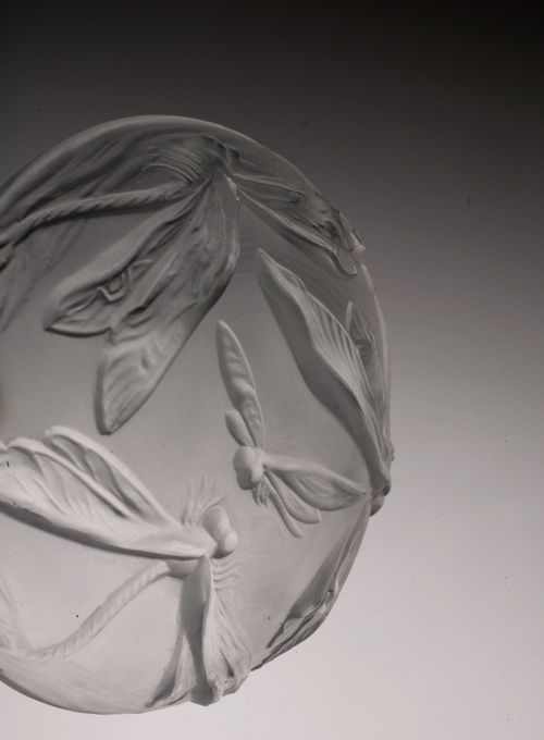 蜻蛉 ガラス小皿 1930\'s France_c0108595_035555.jpg