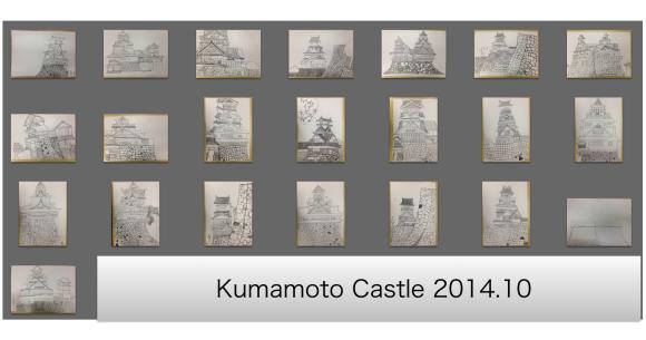 熊本城を描く6年生写生大会3_c0052304_13030288.jpg