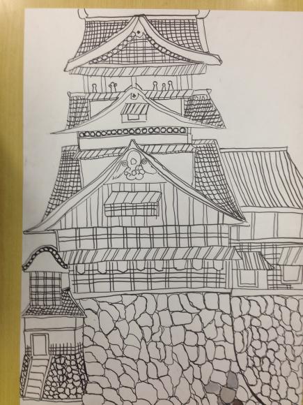 熊本城を描く6年生写生大会4_c0052304_21585964.jpg