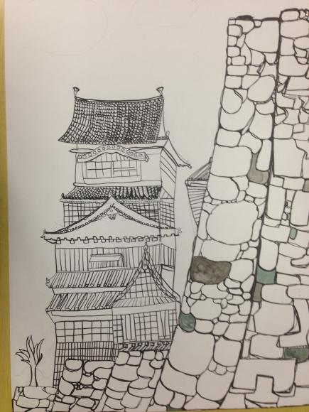 熊本城を描く6年生写生大会4_c0052304_22024115.jpg