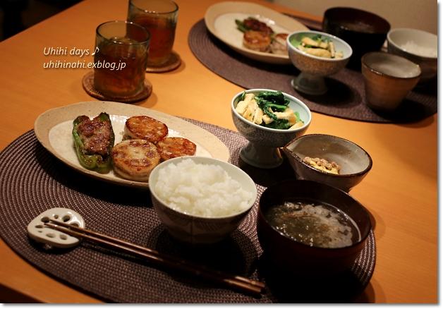 れんこん肉はさみ焼き_f0179404_6563964.jpg